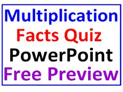 Multiplication Facts One FREE PowerPoint PREVIEW