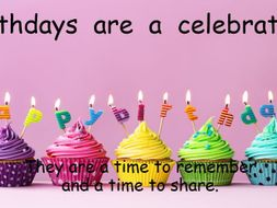 Birthdays for EYFS