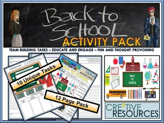 Back to School Tutor Time Booklet