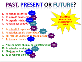 Past, present and near future (film, books, TV) - Expo 3 Module 1 - Differentiated lesson