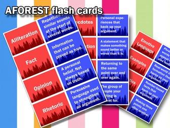 KS4 English GCSE - AFOREST Definition Match
