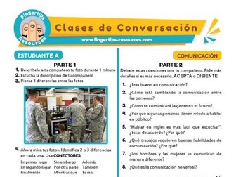 Comunicación - Spanish Speaking Activity