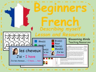 French lesson and resources - KS2 - Describing myself
