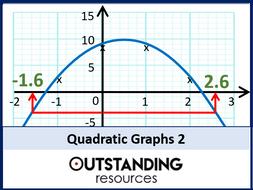Algebra: Quadratic Graphs 2 - Gradients & Other Problems (+ resources)