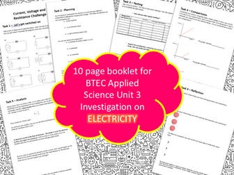 BTEC Unit 3 Applied Science Booklet Electricity