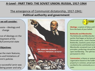 1.New Leaders and Ideologies - AQA A-Level 1H Tsarist and Communist Russia 1855-1964