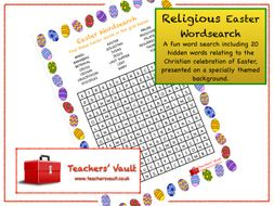 Religious Easter Wordsearch