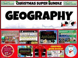 Geography Christmas Quiz Bundle