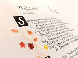 Descriptive writing: Autumn  'Ode to Autumn' by John Keats