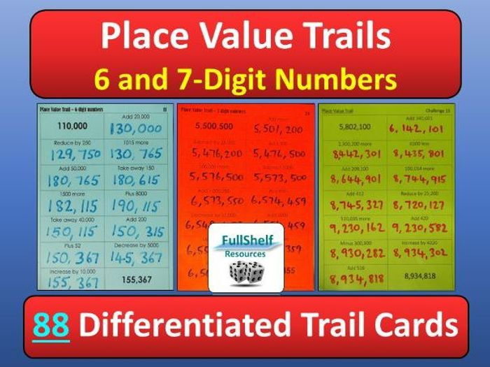 photo relating to Place Value Printable identify Destination Relevance 6 / 7 Digits
