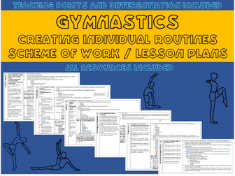Gymnastics lesson plans /Scheme of work for individual routines (year 7)