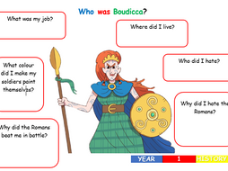 KS1 History - Boudicca Worksheet