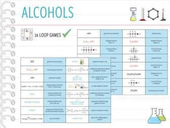IGCSE Chemistry Topic 26: Alcohols - 2x Loop Games (KS4)