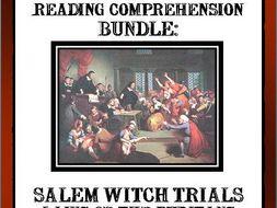 READING COMPREHENSION BUNDLE - SALEM WITCH TRIALS