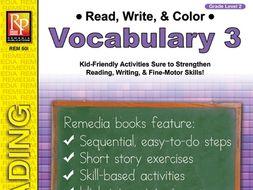 Read, Write, & Color: Vocabulary 3