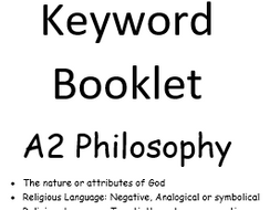 OCR A2 Philosophy Keywords and Definitions
