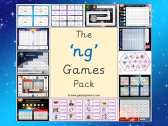The 'ng' Phonics Games Pack