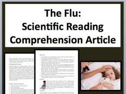 The Flu Comprehension Reading KS3 and KS4