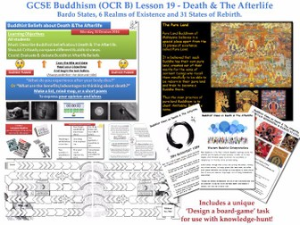 GCSE - Buddhism - Lesson 19  [Death, Afterlife, Bardo, 6 Realms, 31 States, Pure Land](J625/04)