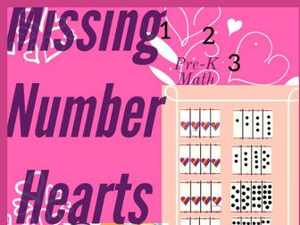 Missing Number Hearts Valentines Math