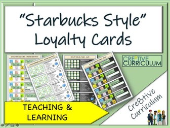 'Starbucks Style' Loyalty Reward Cards