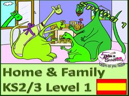 SIX LESSON PRIMARY KS2/3 SPANISH UNIT: Family, ages to 20; descriptions, names, songs, raps, games