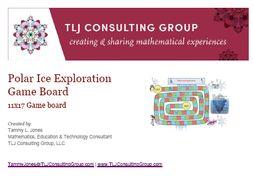Polar Ice Exploration Game Board 11x17