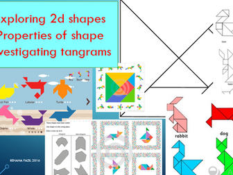 Year 2 Properties of 2d shapes and Tangrams