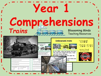 Year 1 comprehensions - non-fiction - Trains