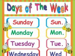 days of the week poster by ruthem teaching resources tes days of the week clipart st patrick's day days of the week clip art free