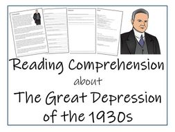 The Great Depression Reading Comprehension by Irvine109