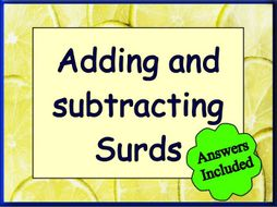 Addition and Subtraction Of Surds