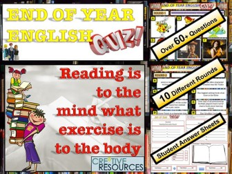 End of Year English Quiz