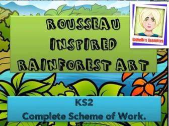 Rainforest  themed - ROUSSEAU Art  - 6 lesson scheme of work.