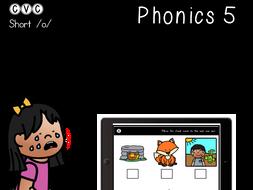 CVC Short O - Digital Center - Odd One Out - Phonics (Google Classroom)