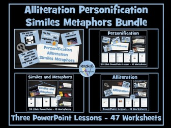 Similes, Metaphors, Personification, Alliteration