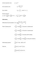 A-Level Maths: Formulas to Memorise