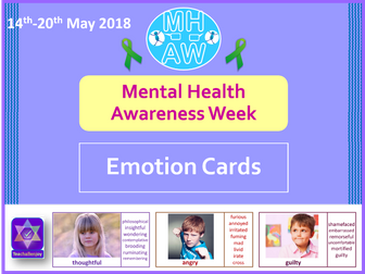 Mental Health Awareness Week 2018 Emotion Cards