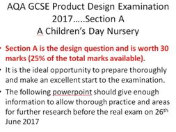 AQA GCSE Product Design Section A 2017 Powerpoint