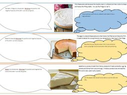 Types of Cheesecake lesson links to Level 1/2 Hospitality and Catering supports differentiation