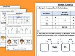 FREE Year 4 Roman Numerals Autumn Block 1 Maths Homework Extension
