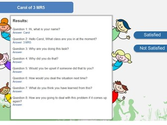 Behaviour Reflection Activity for Challenging Behaviour