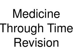 Medicine Through Time Dingbats / Flash Revision Cards