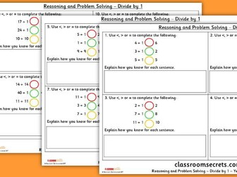 Year 4 Divide by 1 WRM Multiplication and Division Reasoning and Problem Solving