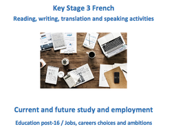 Key Stage 3 French – Work – New GCSE-style activities