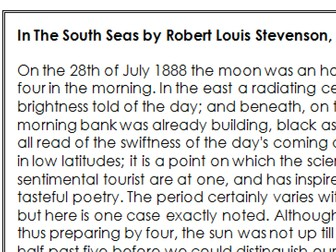 GCSE English Language Paper 2 - 19th Century Non-Fiction Unseen Analysis - In The South Seas