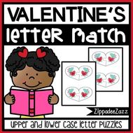 Valentine's Uppercase and Lowercase Match