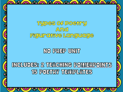 Create a Poetry Chapbook - 2 Teaching PowerPoints, Student Workbook - Over 60 pages