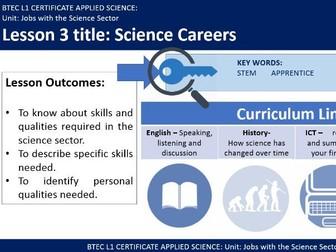 BTEC - Science Careers
