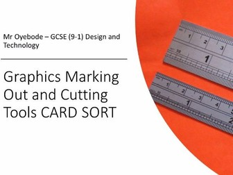Graphics Marking Out and Cutting Tools CARD SORT